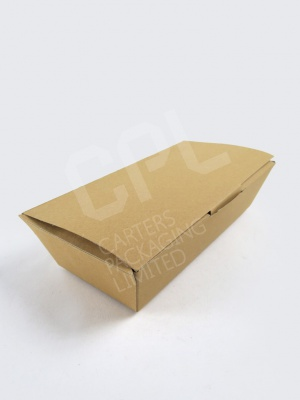 Lidded Cardboard Kraft Food Boxes