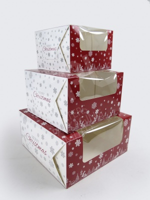 Christmas Cake Boxes (S, M and L)