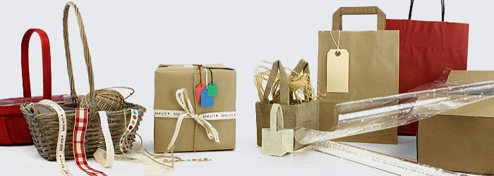 Materials for Wrapping Gifts and Retail Merchandise
