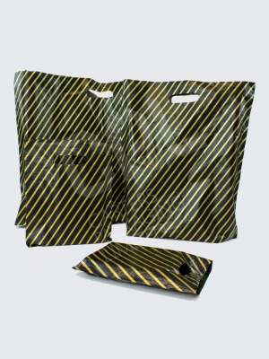 Black and Gold Carrier Bags