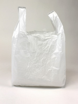Small White Plastic Carrier Bag