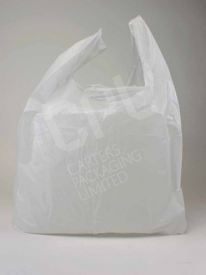 Extra-Large White Plastic Shopping Carrier