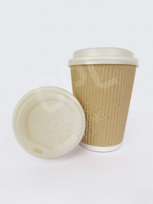 12oz Ripple Cup with Compostable Lid