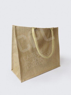 Natural Hessian Jute Bags (handle sizes vary)