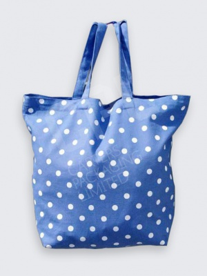 Blue Polka Dot Cotton Bag