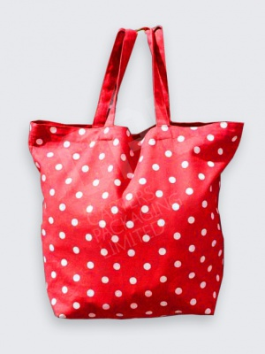 Red Polka Dot Cotton Bag