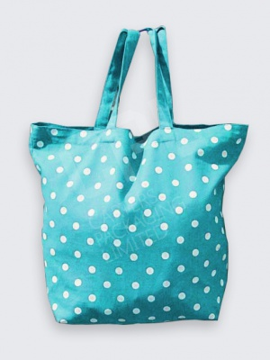 Green Polka Dot Cotton Bag