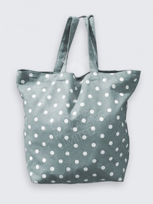 GreY Polka Dot Cotton Bag