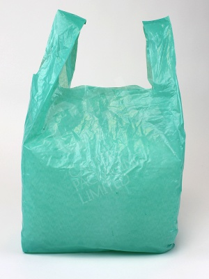 Recycled Green Plastic Carrier Bag