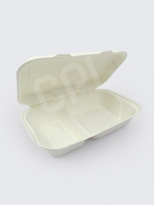 "VegWare 9 x 6"" (2 x Compartment) Bio Box"