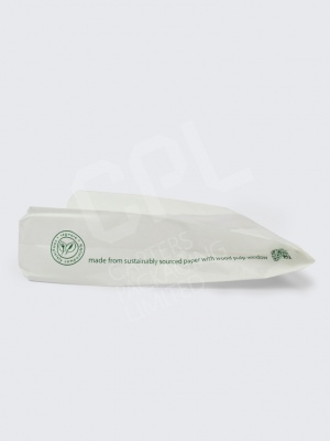 Vegware White Glassine NatureFlex Hot Food Bags