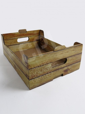 Wood Effect Produce Boxes