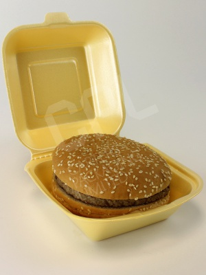 Large HB6 Burger Box with Large Burger inside