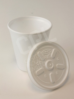 8oz Foam Cup with 8JL Ventilation Lid