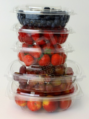 Compostable Hinged Salad Containers