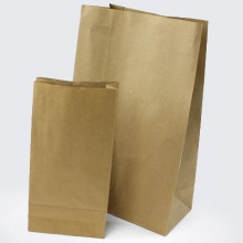 Recycled Brown Kraft Paper Bags with Block Bottom