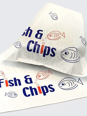 Fish and Chips Printed Carrier Bags