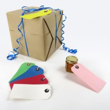 Reinforced Coloured Gift Tags / Shipping Labels