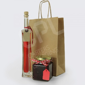 Brown Kraft Twist Handle Carrier Bags