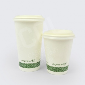 Vegware White SW Coffee Cups