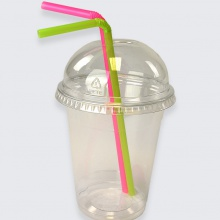 Clear Plastic Smoothie Cups with Optional Dome Lids