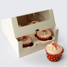 Cupcake Boxes with Window and Insert