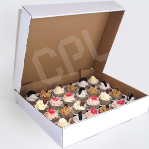 Large Corrugated Box for 24 Cupcakes