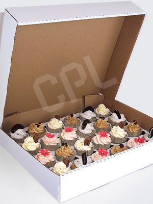 Corrugated Box for 24 Cupcakes