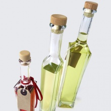 Oil Bottles | Square Glass Olive Oil Bottles with Corks