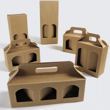 Jar & Bottle Cardboard Kraft Window Boxes