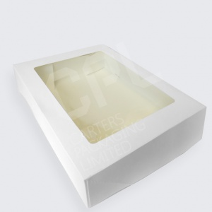 White Cake Boxes with Windows