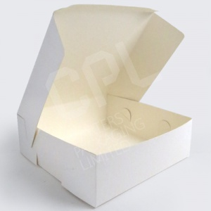 White Plain Folding Cake Boxes