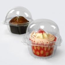 Cupcake Hinged Containers | Plastic Pods