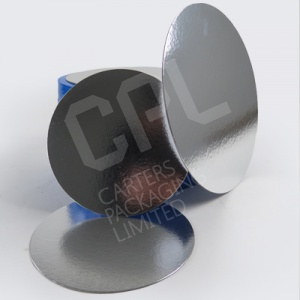 Round Silver Cake Cards