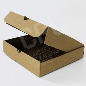 Plain Brown Kraft Pizza Boxes