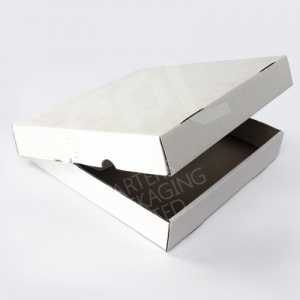 Plain White Pizza Boxes