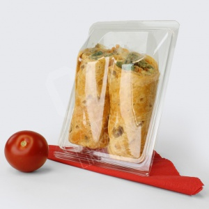Tortilla Wrap - Hinged Plastic Containerontainer