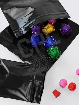 Black Grip-Seal Bags 200g