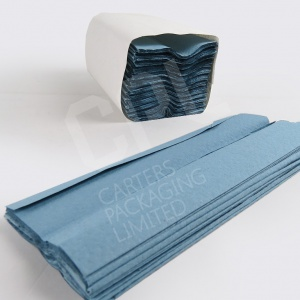 Hand Towels - Blue C-Fold Paper Hand Towels