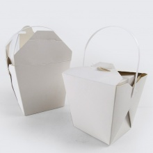 Square Food Pails with Handles