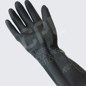 Industrial Black Latex Rubber Gloves
