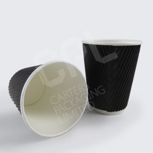 Black Kraft Ripple Cups