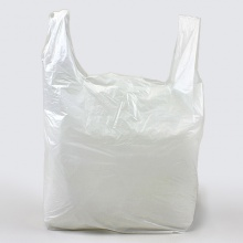 White Vest Carrier Bags | Polythene Shopping Bag