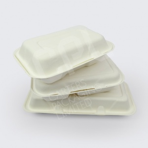 Vegware | Bagasse Clamshell Food Containers