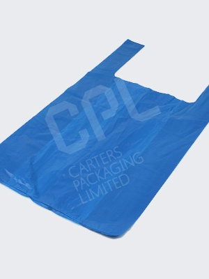 Blue Vest Carrier Bags