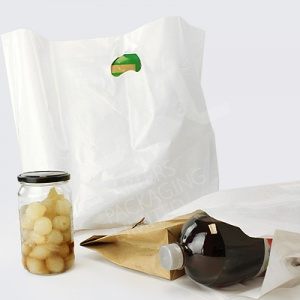 White Variable Gauge Carrier Bags