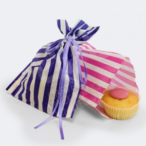 Candy Bag | Pink / Blue Candy Stripe Bags