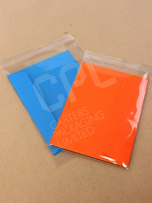 Clear Greeting Card Bags