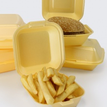 Styrofoam Containers | Hinged Polystyrene Food Trays