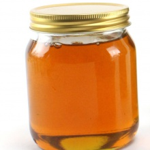 1lb Glass Honey Jar with Gold Screw Lid